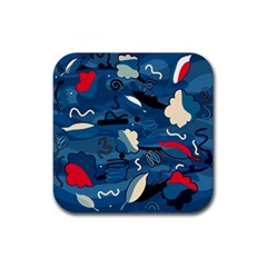 Ocean Rubber Coaster (Square)