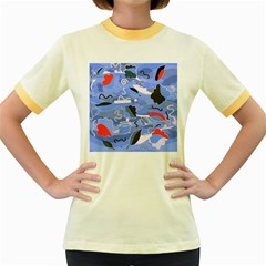 Sea Women s Fitted Ringer T-Shirts
