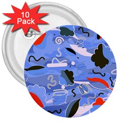 Sea 3  Buttons (10 pack)