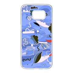 Sea Samsung Galaxy S7 edge White Seamless Case