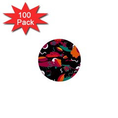 Colorful abstract art  1  Mini Buttons (100 pack)