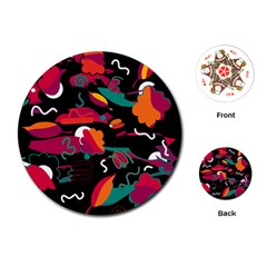 Colorful abstract art  Playing Cards (Round)