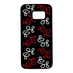 Elegance - red  Samsung Galaxy S7 Black Seamless Case