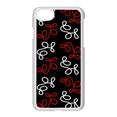 Elegance   Red  Apple Iphone 7 Seamless Case (white)