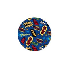 Fabric Comic Words Golf Ball Marker (10 Pack)