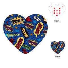 Fabric Comic Words Playing Cards (Heart)