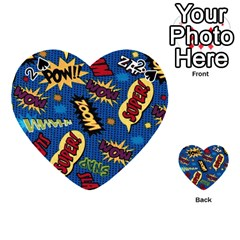Fabric Comic Words Playing Cards 54 (heart)