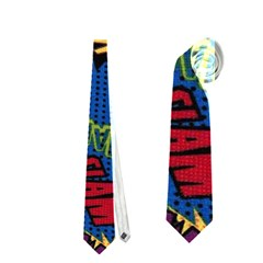 Fabric Comic Words Neckties (two Side)