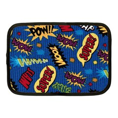 Fabric Comic Words Netbook Case (medium)