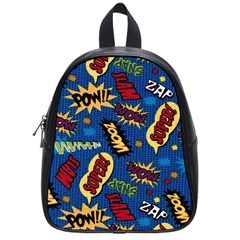 Fabric Comic Words School Bags (small)