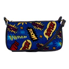 Fabric Comic Words Shoulder Clutch Bags