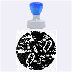Fabric Comic Words Rubber Round Stamps (large)