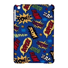 Fabric Comic Words Apple Ipad Mini Hardshell Case (compatible With Smart Cover)