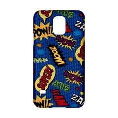 Fabric Comic Words Samsung Galaxy S5 Hardshell Case
