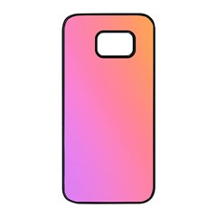 Blank Desk Pink Yellow Purple Samsung Galaxy S7 Edge Black Seamless Case