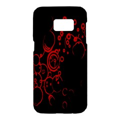 Abstraction Textures Black Red Colors Circles Samsung Galaxy S7 Hardshell Case