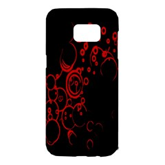 Abstraction Textures Black Red Colors Circles Samsung Galaxy S7 Edge Hardshell Case
