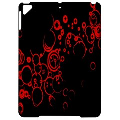 Abstraction Textures Black Red Colors Circles Apple Ipad Pro 9 7   Hardshell Case