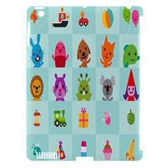 Animals Monster Music Apple Ipad 3/4 Hardshell Case (compatible With Smart Cover)