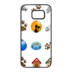 Cat Mouse Dog Samsung Galaxy S7 edge Black Seamless Case