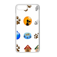 Cat Mouse Dog Apple Iphone 7 Plus White Seamless Case