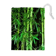 Bamboo Pattern Tree Drawstring Pouches (extra Large)