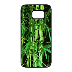 Bamboo Pattern Tree Samsung Galaxy S7 edge Black Seamless Case