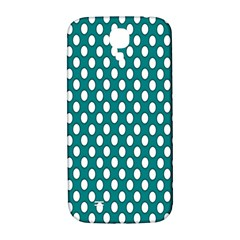 Circular Pattern Blue White Samsung Galaxy S4 I9500/i9505  Hardshell Back Case