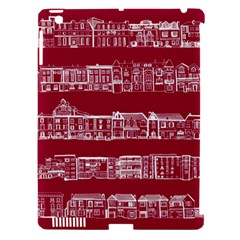 City Building Red Apple Ipad 3/4 Hardshell Case (compatible With Smart Cover)