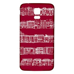 City Building Red Samsung Galaxy S5 Back Case (white)