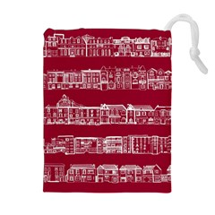 City Building Red Drawstring Pouches (extra Large)