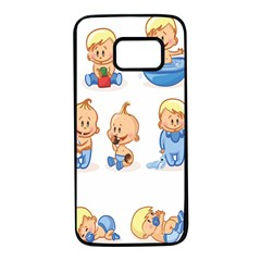 Cute Baby Picture Funny Samsung Galaxy S7 Black Seamless Case