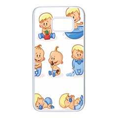 Cute Baby Picture Funny Samsung Galaxy S7 White Seamless Case