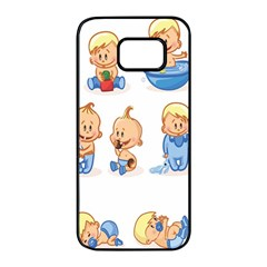 Cute Baby Picture Funny Samsung Galaxy S7 edge Black Seamless Case