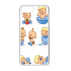 Cute Baby Picture Funny Apple iPhone 7 Plus White Seamless Case