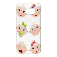 Cute Baby Picture Samsung Galaxy S7 Edge Hardshell Case