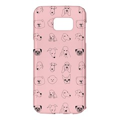 Dog Pink Samsung Galaxy S7 Edge Hardshell Case