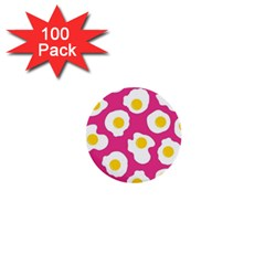 Fried Egg 1  Mini Buttons (100 Pack)