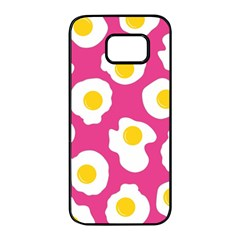 Fried Egg Samsung Galaxy S7 edge Black Seamless Case