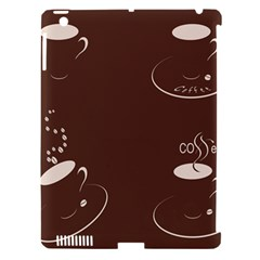 Four Coffee Cups Apple Ipad 3/4 Hardshell Case (compatible With Smart Cover)