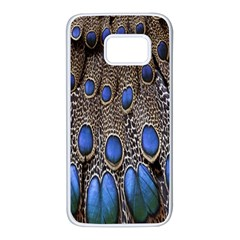 Feathers Peacock Light Samsung Galaxy S7 White Seamless Case