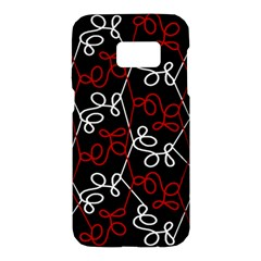 Elegant red and white pattern Samsung Galaxy S7 Hardshell Case