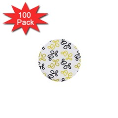 Yellow Elegance 1  Mini Buttons (100 Pack)