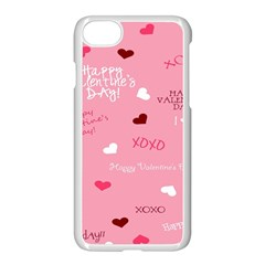 Happy Valentines Day Apple Iphone 7 Seamless Case (white)