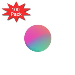 Pink Blue 1  Mini Buttons (100 Pack)