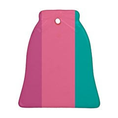 Pink Blue Three Color Bell Ornament (2 Sides)