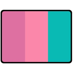 Pink Blue Three Color Double Sided Fleece Blanket (large)
