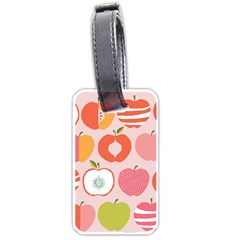 Pink Delicious Organic Canvas Luggage Tags (two Sides)