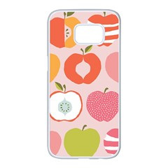 Pink Delicious Organic Canvas Samsung Galaxy S7 Edge White Seamless Case