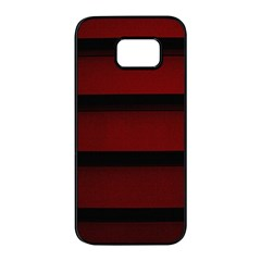 Line Red Black Samsung Galaxy S7 Edge Black Seamless Case